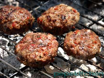 Receta de hamburguesas con pimientos