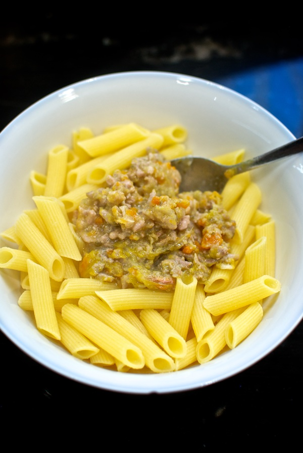 macarrones sin gluten con boloñesa bianca 1