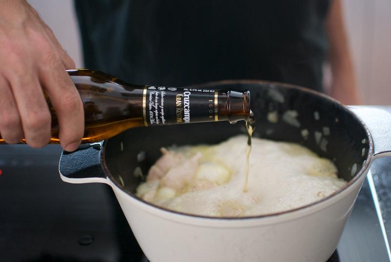 guiso de pavo con cerveza 1